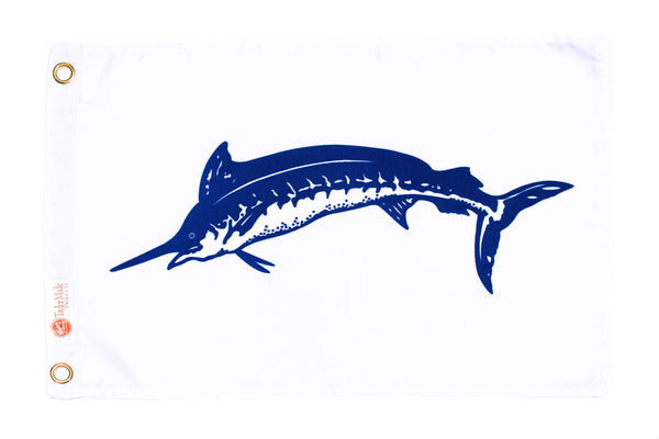 Taylor Flag - Blue Marlin 12 X 18