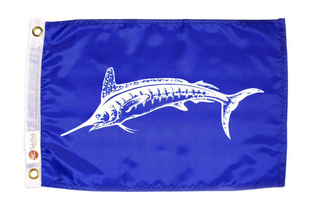 Taylor Flag - White Marlin 12 X 18