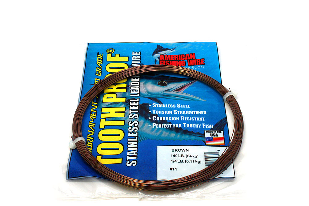 American Fishing Wire #11 Tooth-Proof Single Strand 1/4# Coil 140#Test