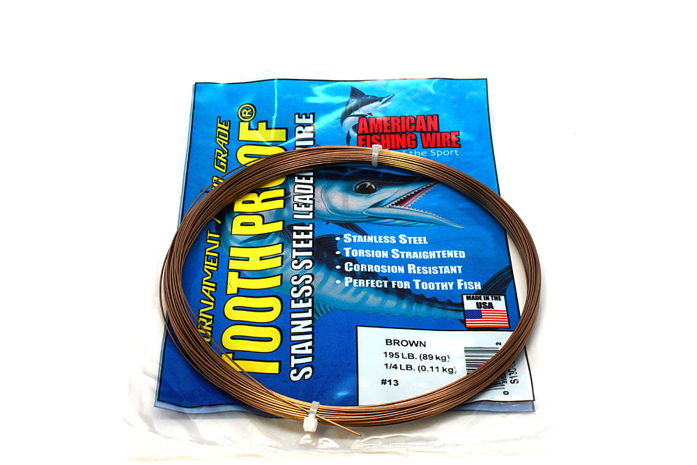 American Fishing Wire #13 Tooth-Proof Single Strand 1/4# Coil 195#Test