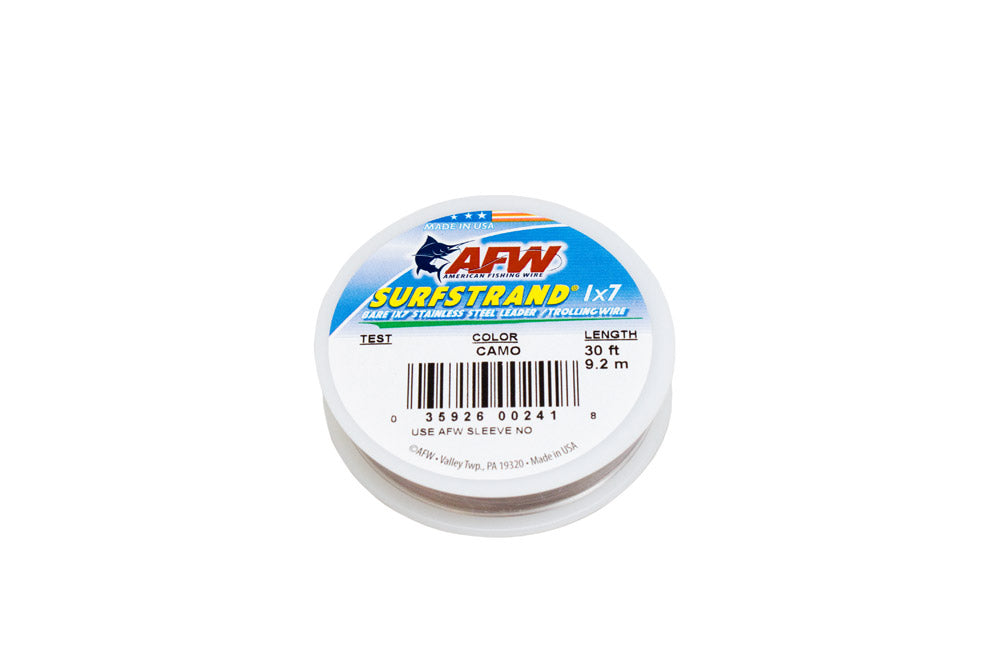 AFW Surfstrand Wire 60# 1x7 30'