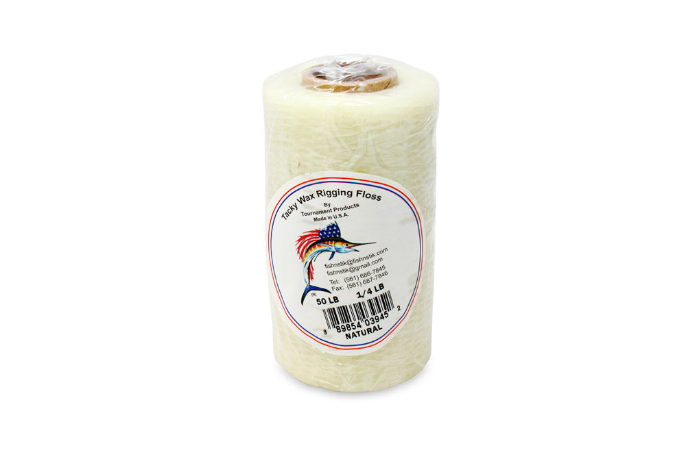 Heavy Duty Waxed Rigging Floss, 50# x 1/4 lb Natural