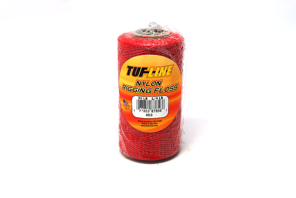 Heavy Duty Waxed Rigging Floss, 30# x 1/4 lb Red