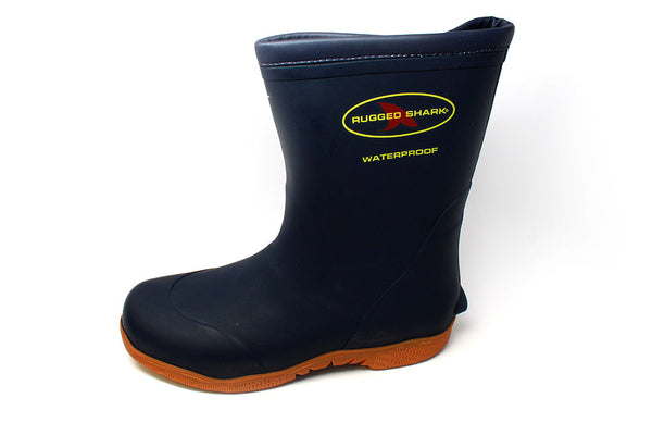 Rugged Shark Great White Boot-Navy