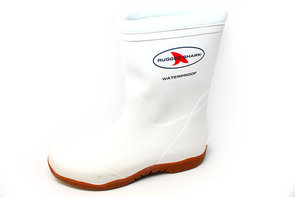 Rugged Shark Great White Boot-White