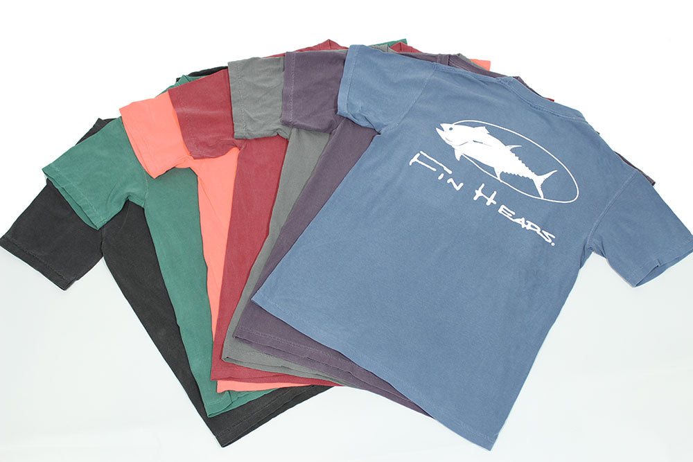 Fin Heads Comfort Color Short Sleeve Tees With Pocket