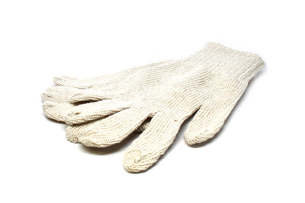 Hi-Liner White Cotton Crewman's Gloves
