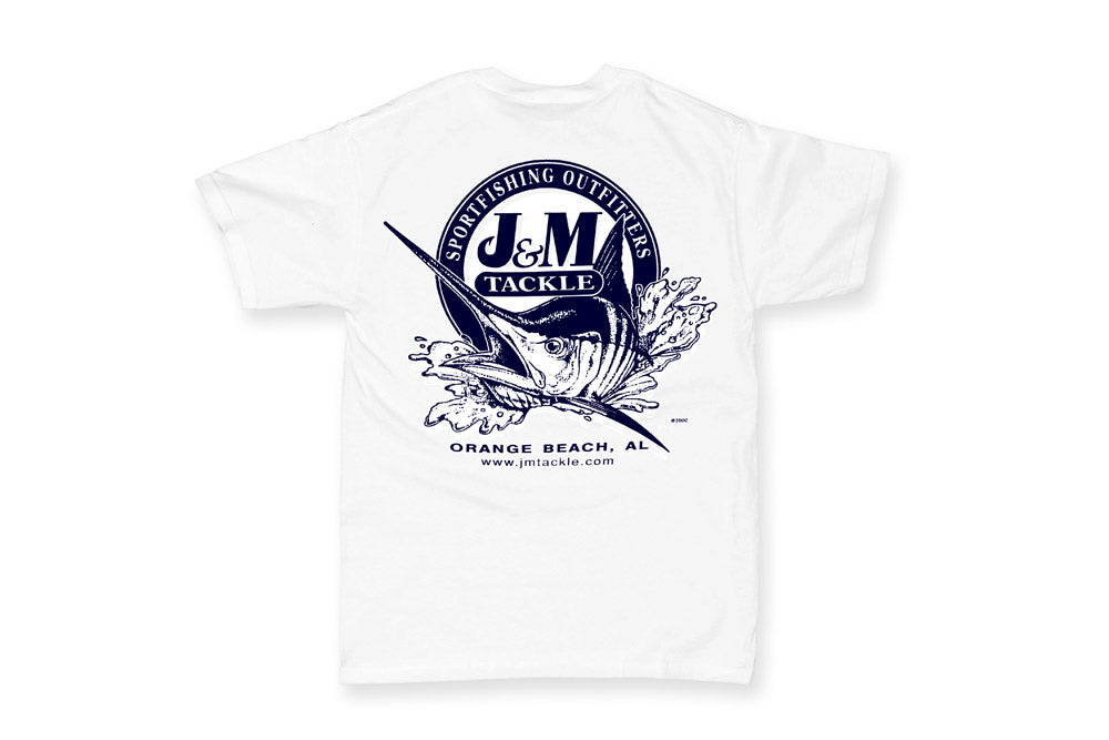 J&M Logo T-Shirt, Lightweight, White or Sand