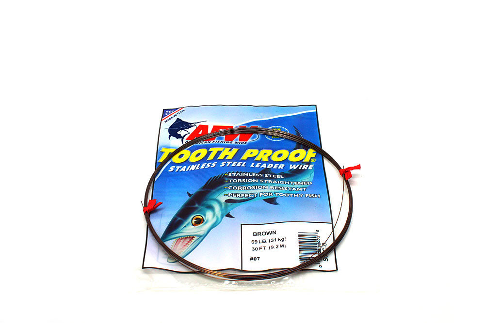 American Fishing Wire ToothProof Single Strand Wire 30'