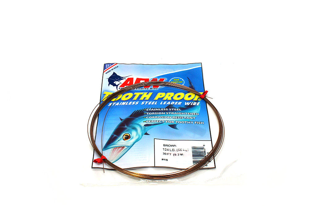 American Fishing Wire #10 ToothProof Camo Brown 30'