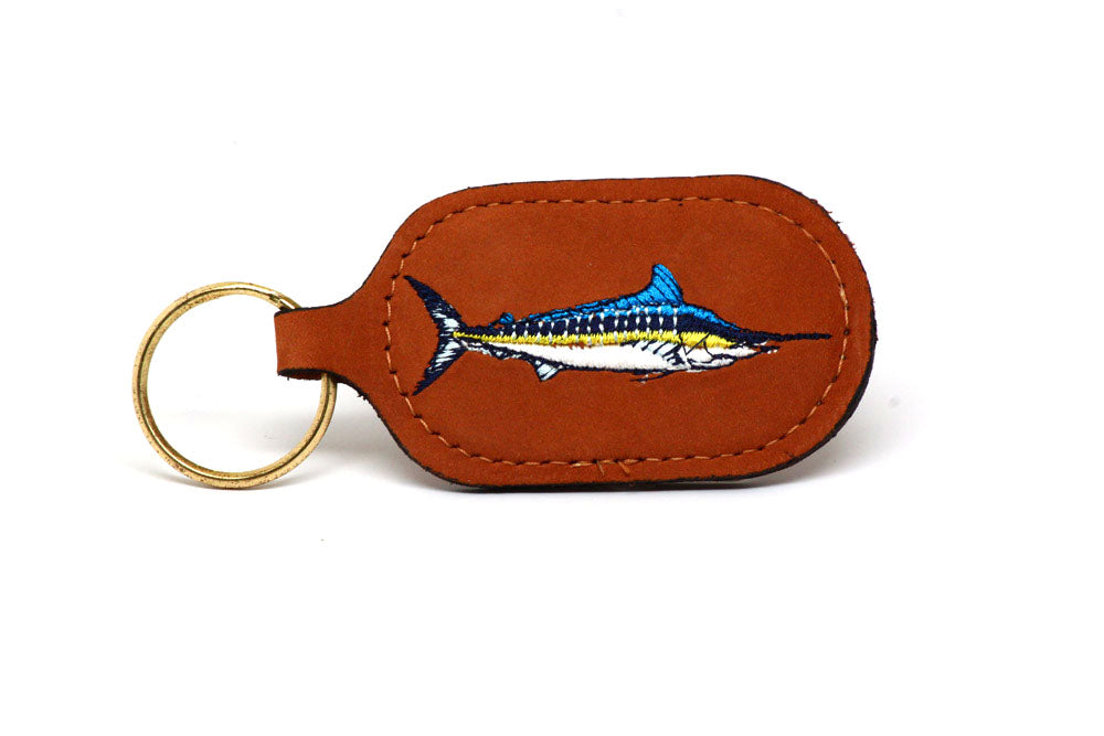 Zep Pro Key Chain Embroidered Marlin LTHR