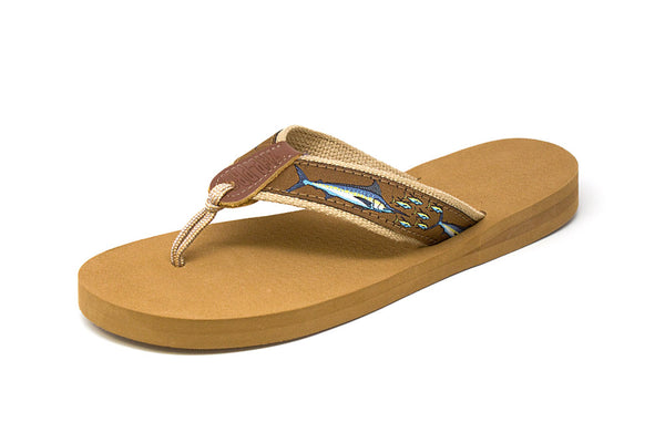 Zep Pro Men's Marlin Chase Brown Ribbon Sandals