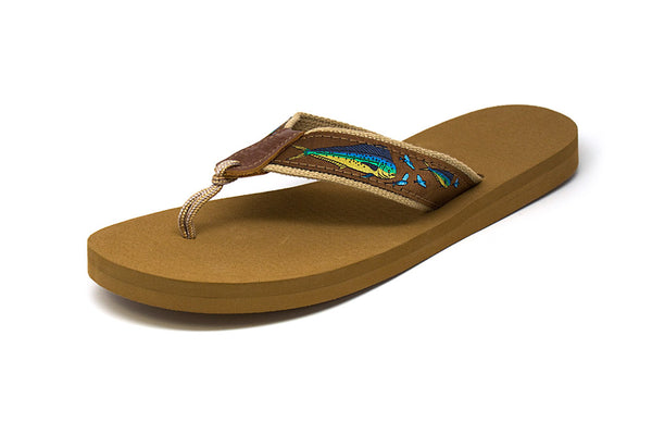 Zep Pro Men's Dolphin Chase Brown Ribbon Sandals