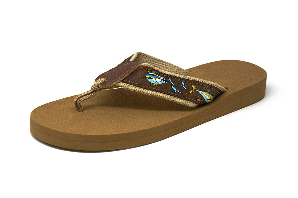 Zep Pro Women's Tuna Chase Brown Ribbon Sandals
