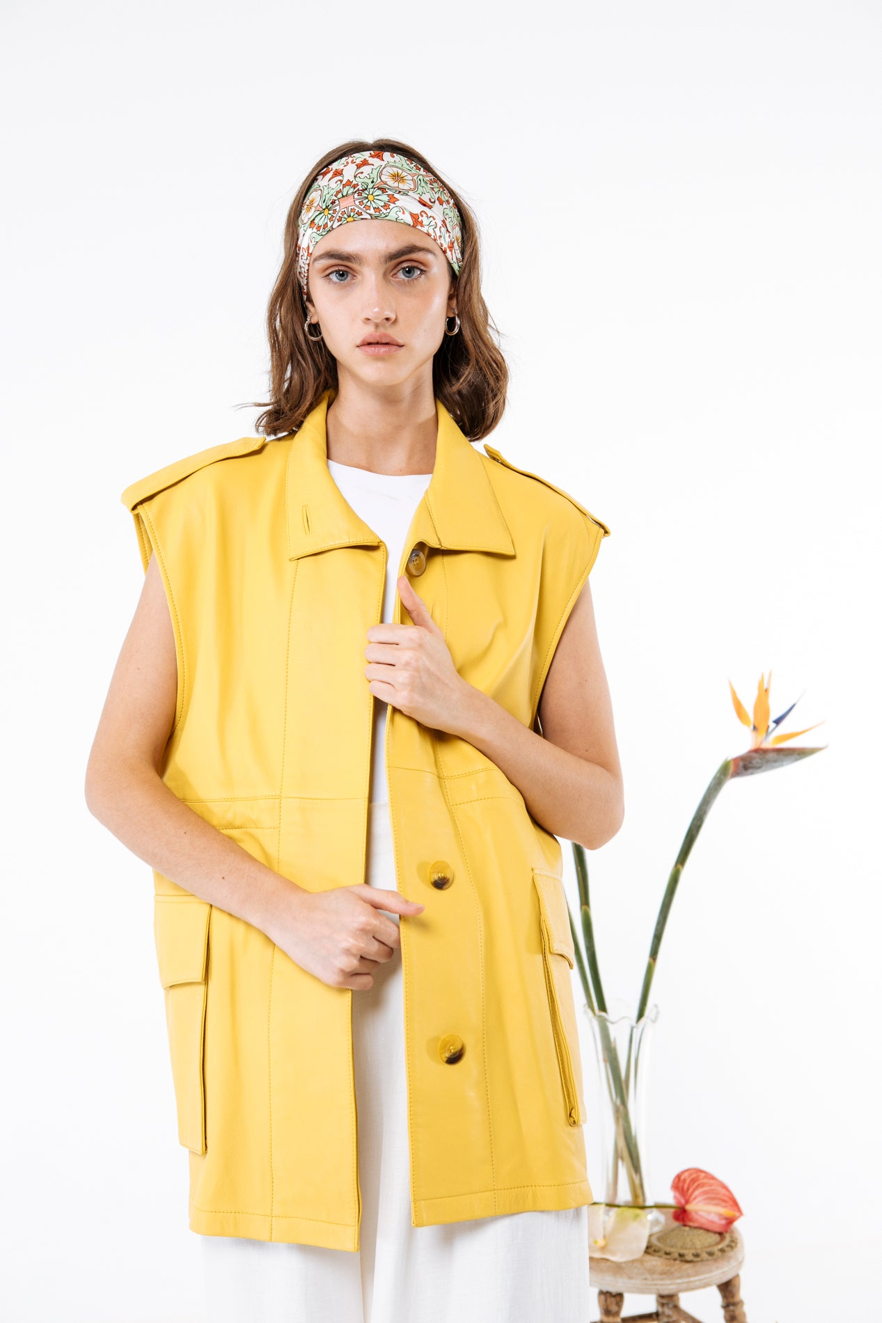 Yellow Lambskin Margot