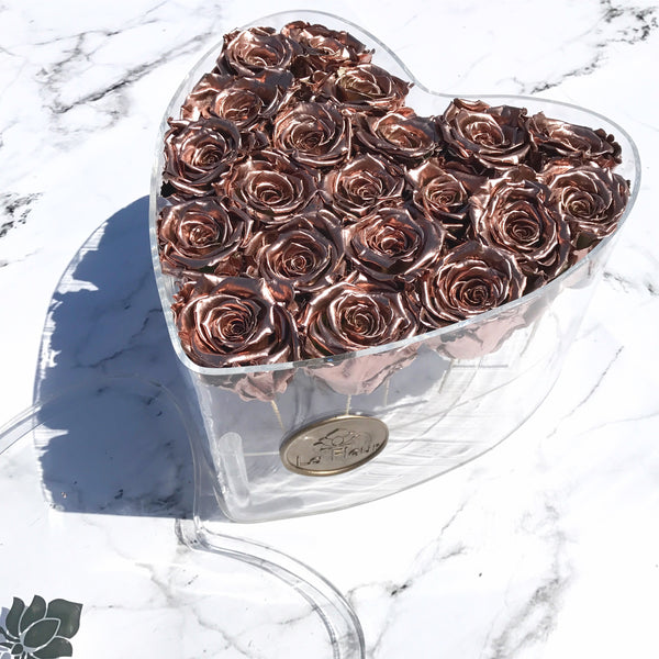 Acrylique Heart - Lasts An Entire Year - La Fleur Bouquets