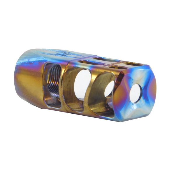 AREIOS DEFENSE NORTH TACTICAL SUPPLY - VENOM DEFENSE - FLAME ANODIZED TITAN TITANIUM MUZZLE BRAKE