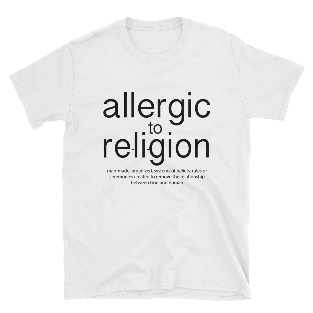 Allergic to Religion Short-Sleeve Unisex T-Shirt