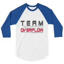 TEAM Overflow 3/4 sleeve raglan shirt