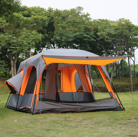 Camp District Cabin Style Tent 2 Room 12 Person Tent