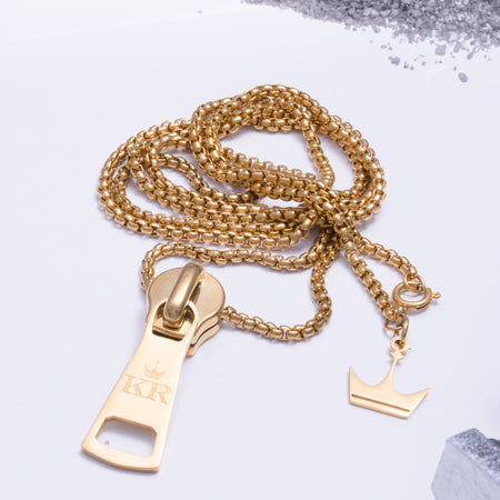 Zip It Pendant Gold