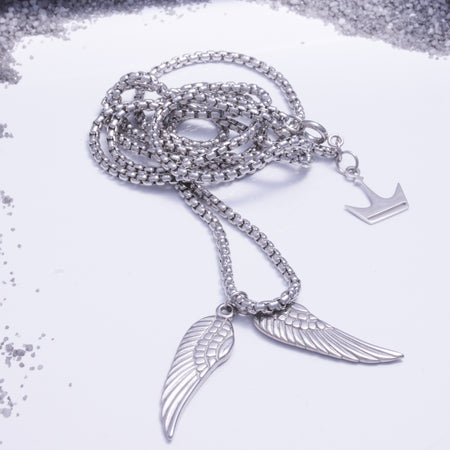The Angel Wings Pendant Silver