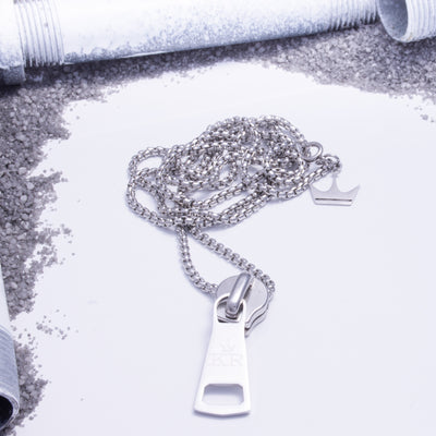Zip It Pendant Silver