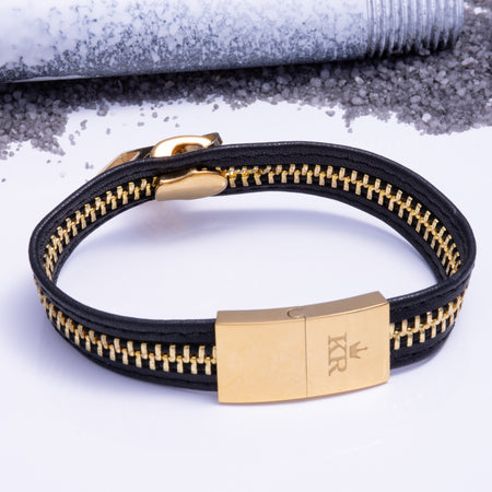 Zip It Bracelet Gold