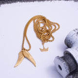 The Angel Wings Pendant Gold