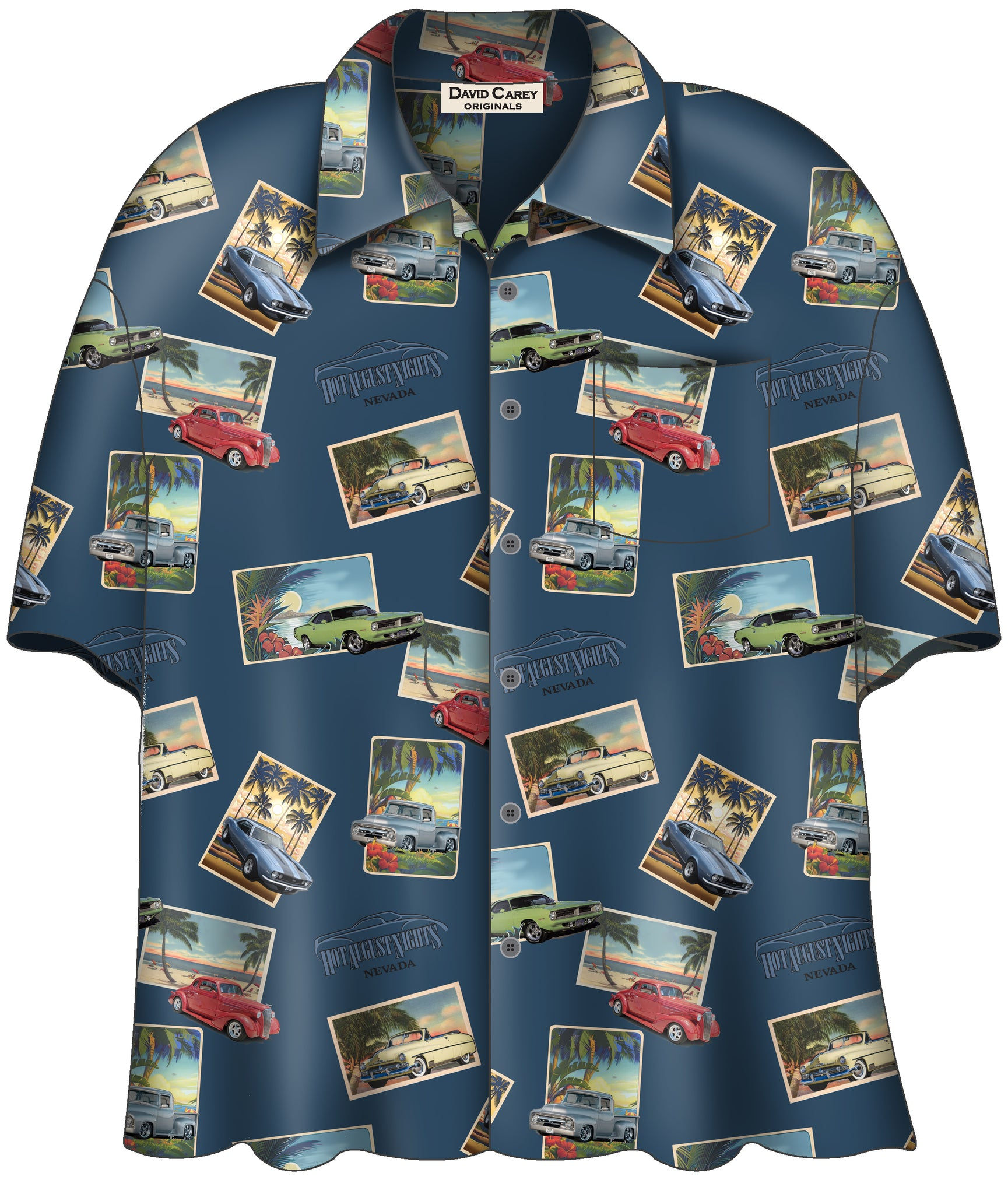 Mens Hawaiian Camp Shirt