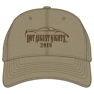 2018 Brown Plaid Hat