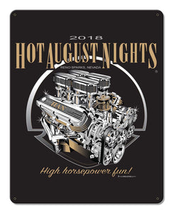 2018 Engine Tin Sign