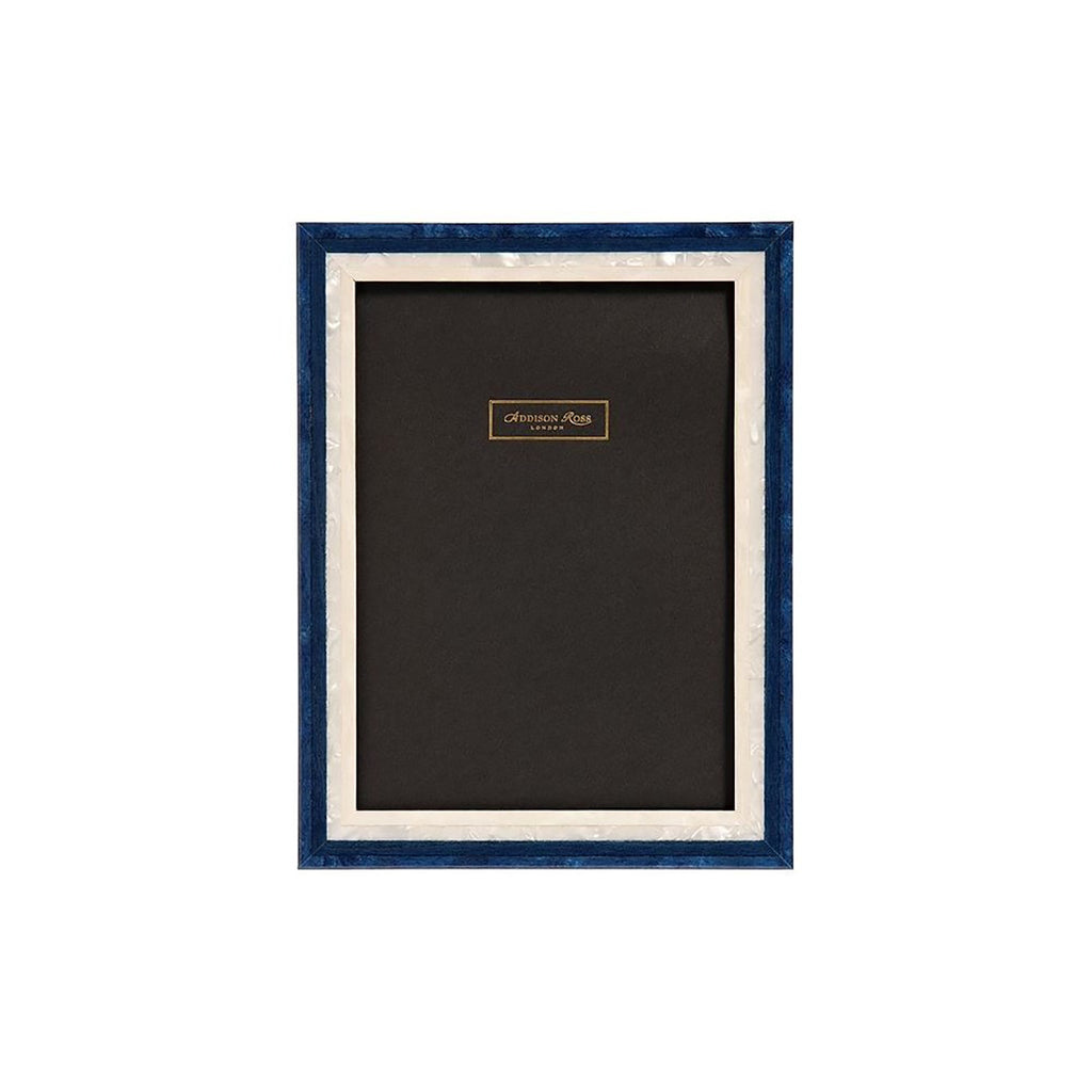 PHOTO FRAME I Navy and Pearl