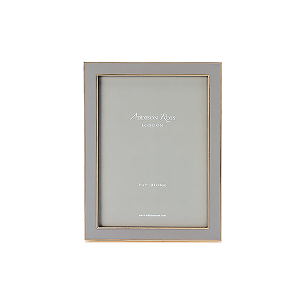 PHOTO FRAME I Taupe Enamel