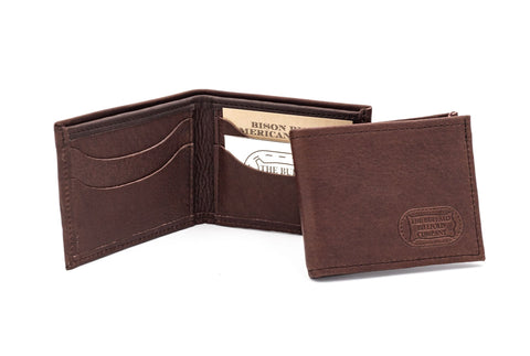 Bison Leather Wallet Bi-Fold