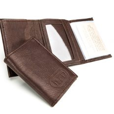 Bison Leather Wallet Tri-Fold