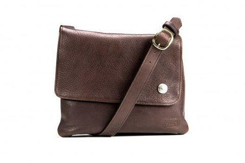 Trim Style Bison Leather Purse with Side Nickel