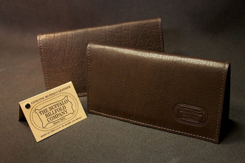 Bison Leather Checkbook Cover