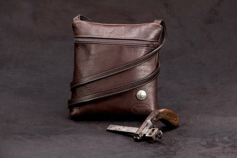 Traveler Bison Leather Purse
