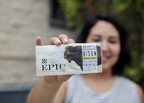 EPIC Bison Bacon Cranberry Bars (1 box of 12) + 1 FREE Bar