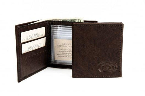 Bison Leather Hipster Wallet