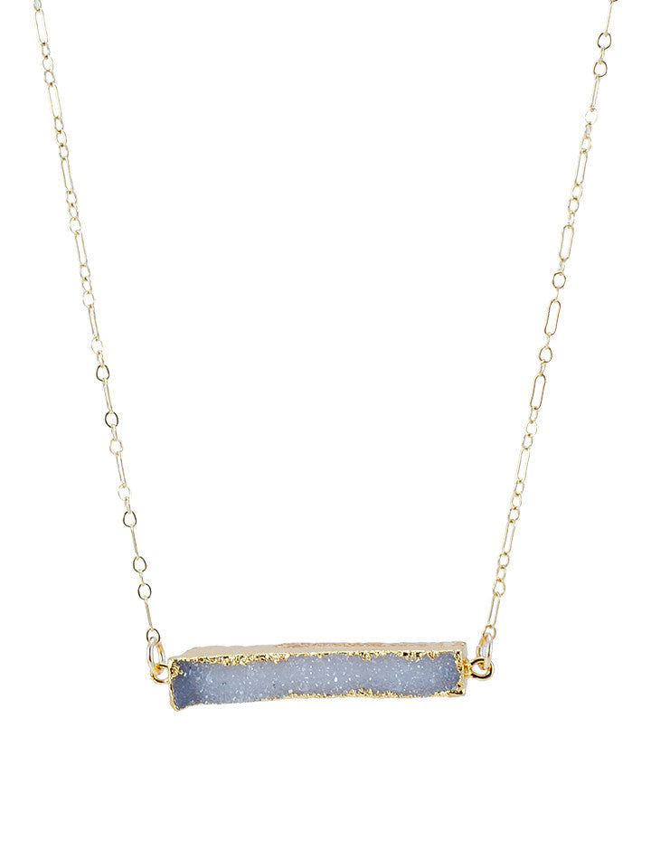 DRUZE SLICE NECKLACE - HENRI LOU DESIGNS