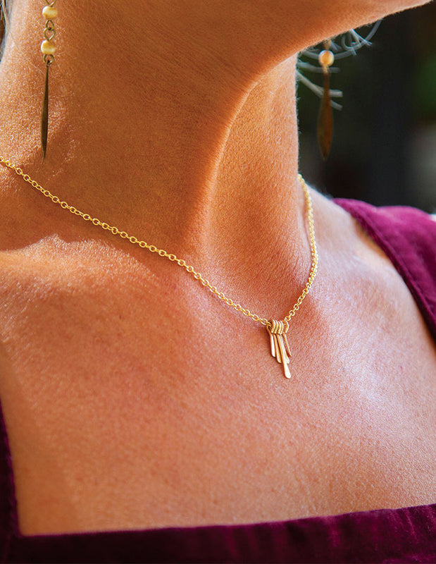 ALL TOGETHER Delicate Gold Chain Necklace - HENRI LOU DESIGNS