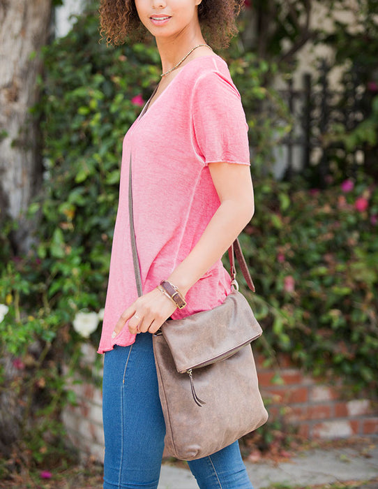BROOKE LEATHER HANDBAG - HENRI LOU DESIGNS