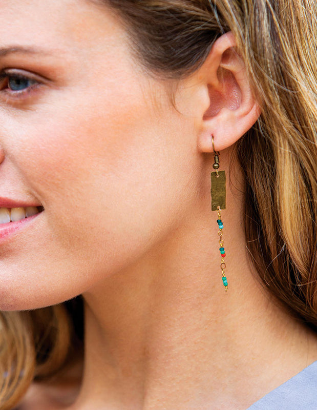 CACTUS FLOWER EARRINGS - HENRI LOU DESIGNS