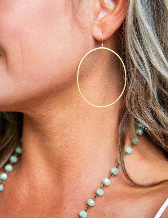DROP HOOP EARRINGS - HENRI LOU DESIGNS