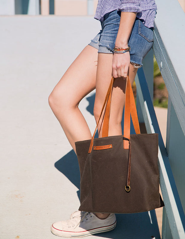 HL CANVAS TOTE - HENRI LOU DESIGNS