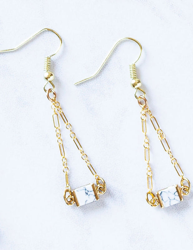 HL HOWLITE EARRINGS