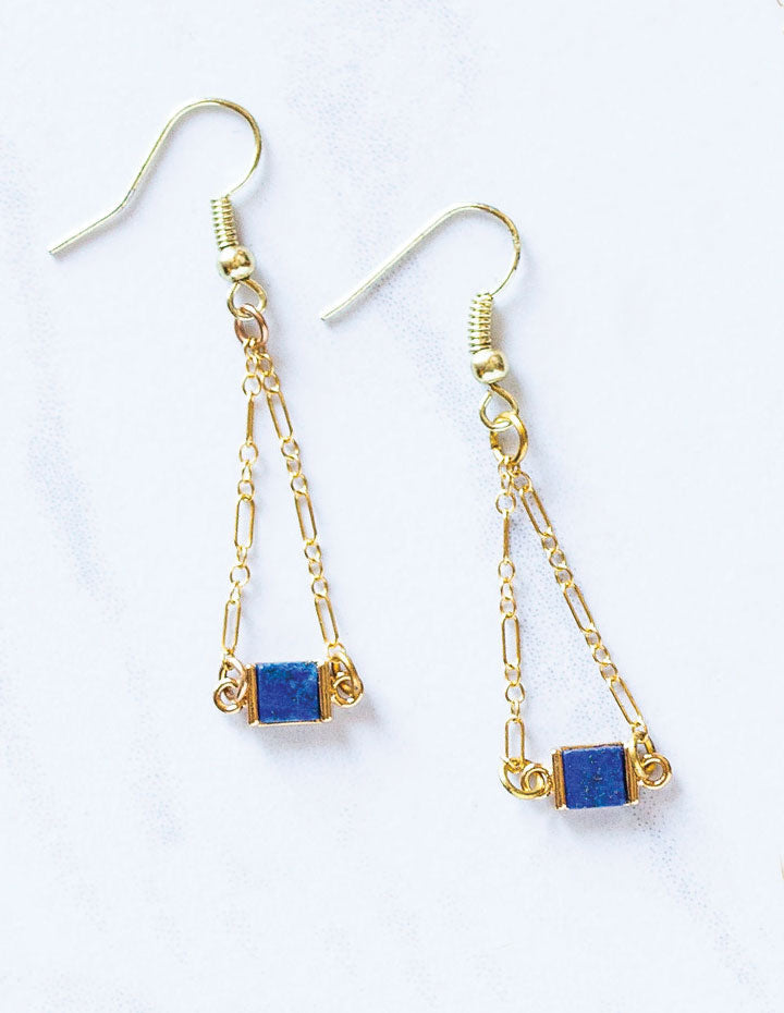 HL LAPIS EARRINGS