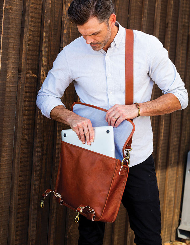 HL MESSENGER BAG - HENRI LOU DESIGNS